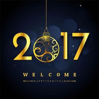 Elegante 2017 fondo con oro per il nuovo anno