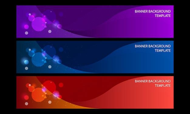 Elegante 3 colori di sfondo astratto banner