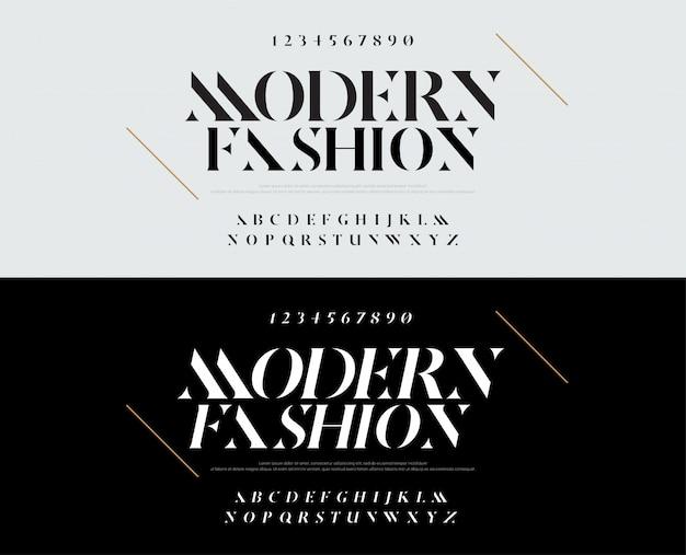 Elegante alfabeto lettere font. moda tipografia
