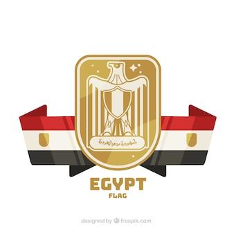 Elegante bandiera egiziana con design piatto
