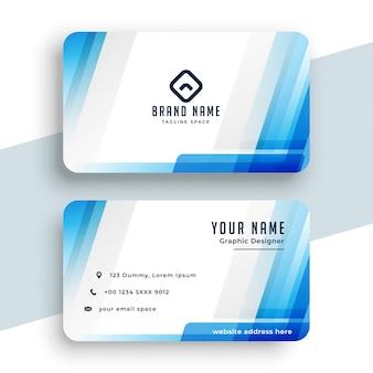 Elegante biglietto da visita blu moderno