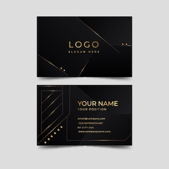 Elegante biglietto da visita di lusso dal design dorato