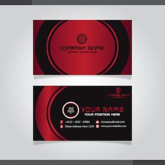 Elegante biglietto da visita nei colori rosso e nero