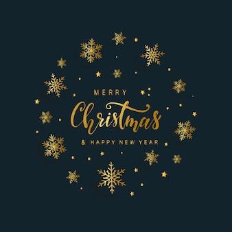Elegante biglietto di auguri di buon natale e felice anno nuovo