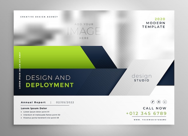 Elegante brochure aziendale verde