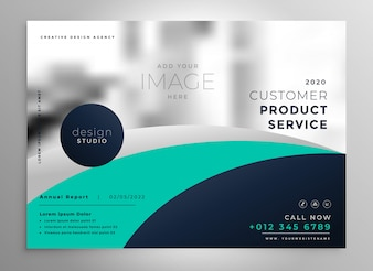 Elegante brochure di relazione annuale aziendale o modello di presentazione