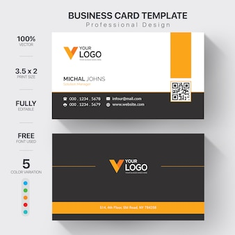 Elegante carta aziendale arancione