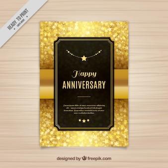 Elegante carta d'oro di stelle