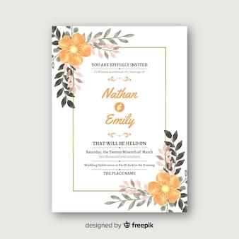 Elegante carta di invito a nozze