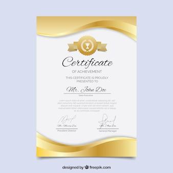 Elegante certificato modello