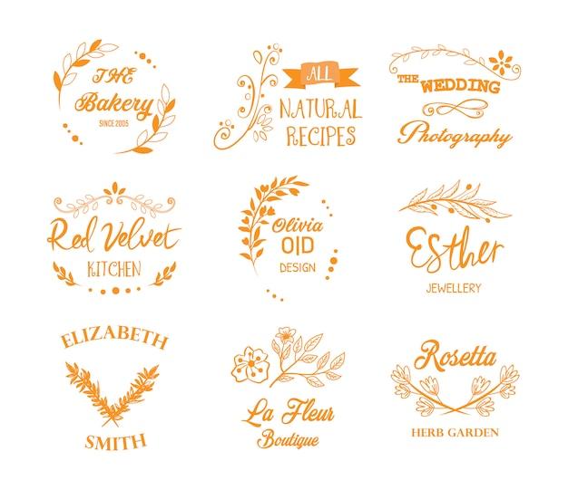 Elegante collezione di logotipi
