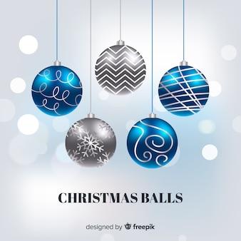 Elegante collezione di palline natalizie dal design realistico