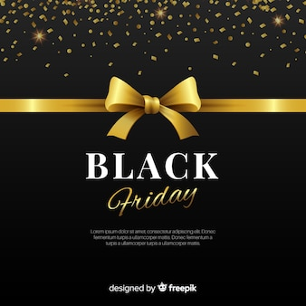 Elegante composizione di venerdì nero con uno stile dorato