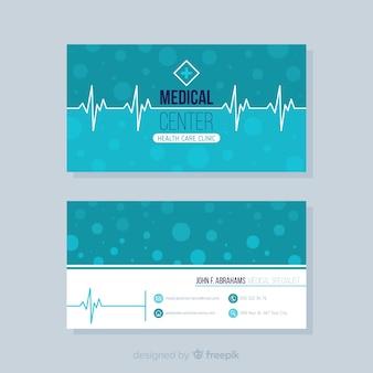 Elegante concetto di biglietto da visita per ospedale o medico