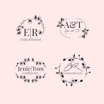 Elegante confezione monogrammi da sposa