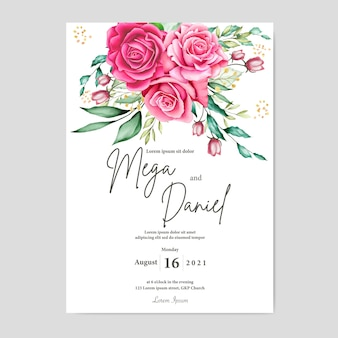 Elegante cornice floreale con fiori ad acquerelli