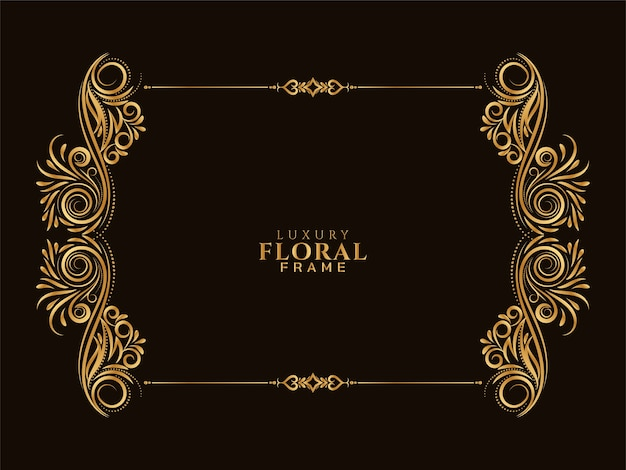 Elegante cornice floreale dorata