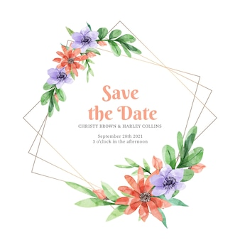 Elegante cornice floreale per matrimoni
