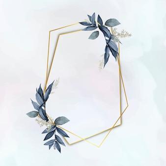 Elegante cornice in foglia vegetale