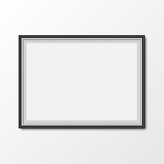 Elegante cornice per foto con ombra. illustrazione vettoriale