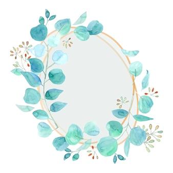 Elegante cornice poligonale in acquerello