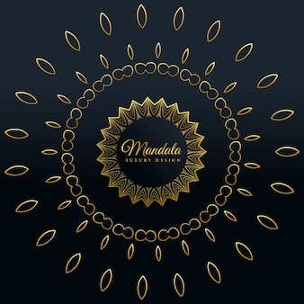 Elegante design decorativo dorato mandala