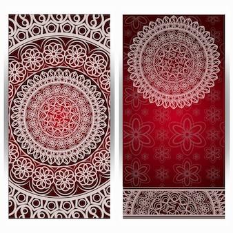 Elegante design della carta save the date. modello di carta di invito floreale vintage. cartolina d'auguri di lusso mandala ricciolo.