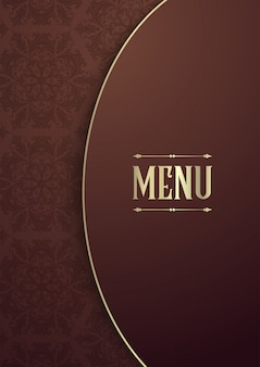 Elegante design della copertina del menu