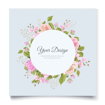 Elegante design floreale invito a nozze