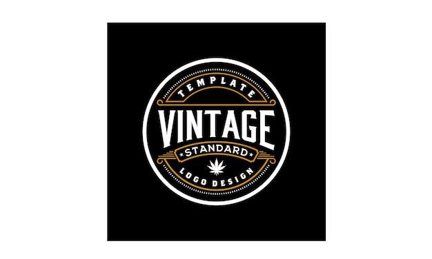 Elegante design logo emblema d'epoca