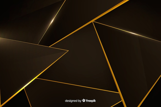 Elegante design scuro a sfondo poligonale