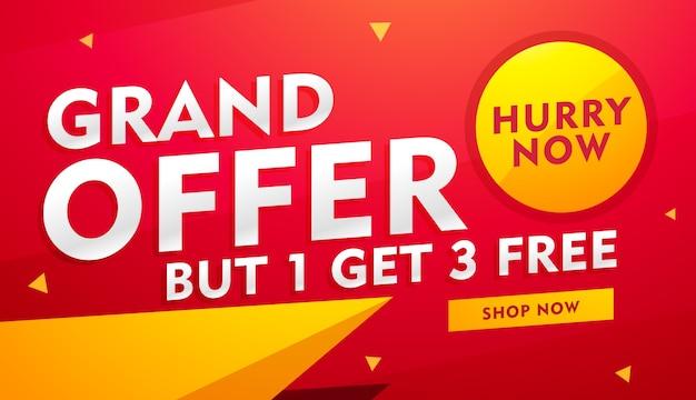 Elegante disegno vettoriale banner con dettagli dell'offerta per la pubblicità e il marketing
