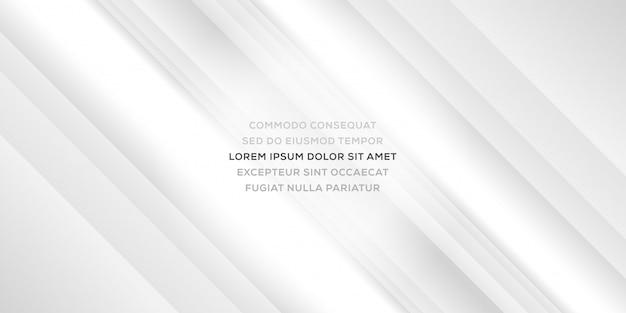Elegante e minimalista astratto sfondo bianco business con linee lucide