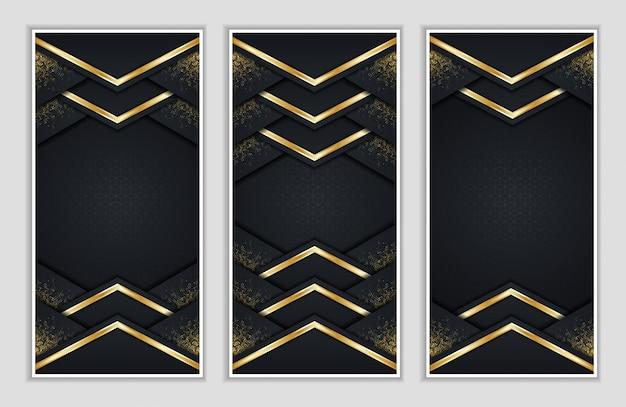 Elegante e moderno con striscioni dalle linee dorate