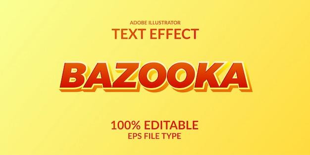 Elegante effetto di testo in grassetto forte. effetto di testo modificabile