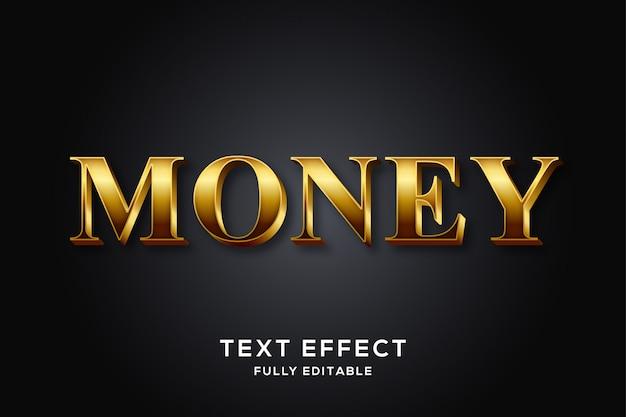 Elegante effetto testo moderno in oro