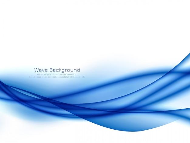 Elegante elegante onda blu sullo sfondo