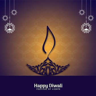 Elegante festival indiano happy diwali