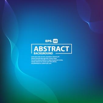 Elegante gradiente blu astratto con sfondo di onda