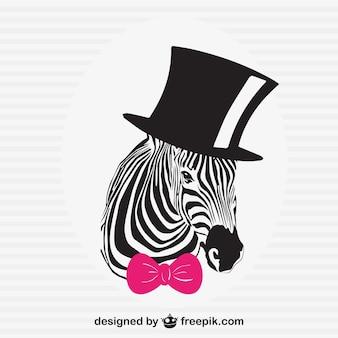 Elegante illustrazione vettoriale zebra
