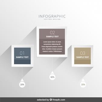 Elegante infografica moderno