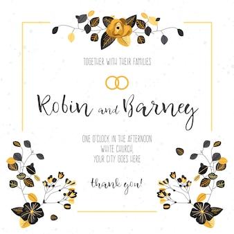 Elegante invito a nozze