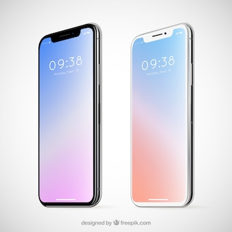 Elegante iphone con sfondo astratto