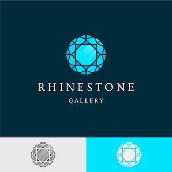 Elegante logo con diamante per azienda
