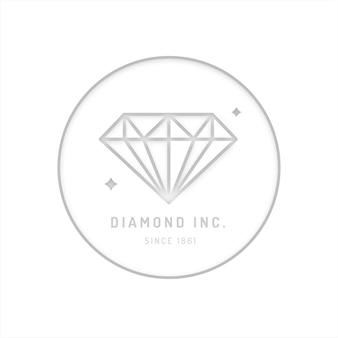 Elegante logo diamante di design