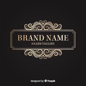 Elegante logo ornamentale dorato