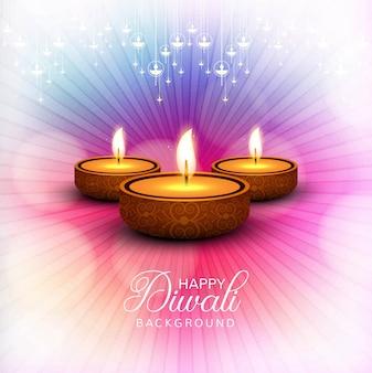 Elegante lucido felice diwali festival sfondo