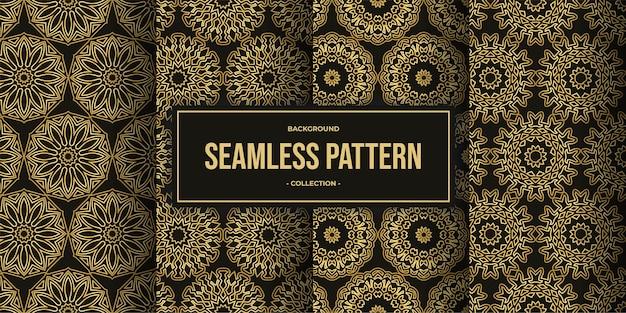 Elegante mandala fiore seamless pattern sfondo collezione