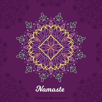 Elegante mandala namaste background