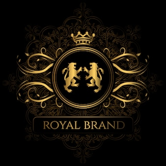 Elegante marchio reale del marchio